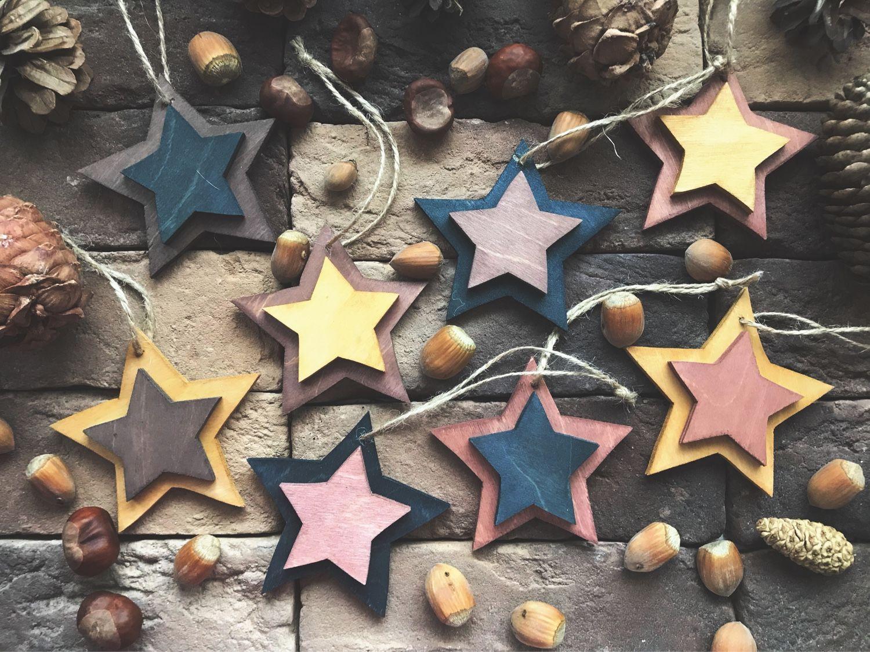 Набор деревянных звезд, Подарочные боксы, Москва,  Фото №1