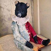 Мягкие игрушки ручной работы. Ярмарка Мастеров - ручная работа Артист старого цирка. Авторский медведь. Handmade.