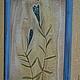 """Символизм ручной работы. Ярмарка Мастеров - ручная работа. Купить """"Генциана""""  (Горечавка). Handmade. Синий, оберег, растения, рамка деревянная"""