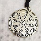 Фен-шуй и эзотерика handmade. Livemaster - original item Silver seal of Solomon from poverty. Handmade.