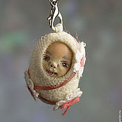 """Куклы и игрушки ручной работы. Ярмарка Мастеров - ручная работа Миниатюрная куколка """"Ромашка"""". Handmade."""