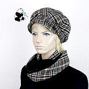 Аксессуары handmade. Livemaster - original item Stylish women`s kit. Cap plus snood.. Handmade.