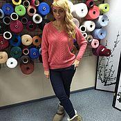 Одежда ручной работы. Ярмарка Мастеров - ручная работа Джемпер вязаный из 30% итальянского мохера№114. Handmade.