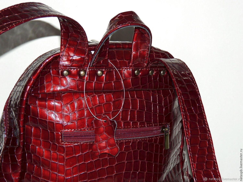 6191b2585c13 Burgundy women s leather backpack  Beaujolais . Natalia Kalinovskaya. My  Livemaster