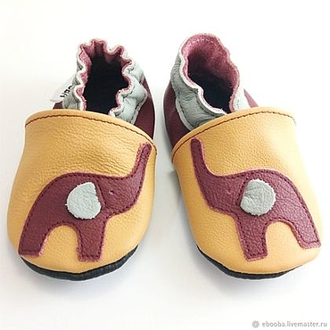 Footwear handmade. Livemaster - original item Yellow baby shoes Leather, Infant Slippers,Handmade Shoes. Handmade.