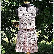 Одежда ручной работы. Ярмарка Мастеров - ручная работа Пляжное платье Амаретти. Handmade.