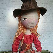 Мягкие игрушки ручной работы. Ярмарка Мастеров - ручная работа Интерьерная текстильная кукла Маленькая ведьмочка Хэллоуин. Handmade.