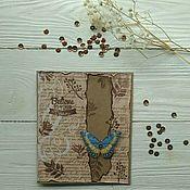 Открытки ручной работы. Ярмарка Мастеров - ручная работа Крафтовая открытка с бабочкой.. Handmade.