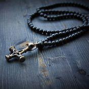 Украшения handmade. Livemaster - original item Beads with hematite and Scandinavian amulet. Handmade.