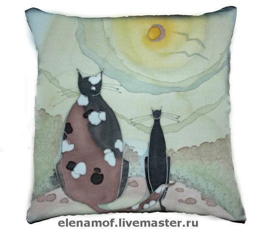 Текстиль, ковры ручной работы. Ярмарка Мастеров - ручная работа. Купить Подушка Луной был полон сад. Handmade. Подушка