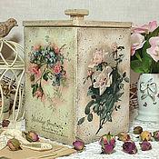 """Для дома и интерьера ручной работы. Ярмарка Мастеров - ручная работа короб для сладостей """"Волшебный аромат роз"""". Handmade."""