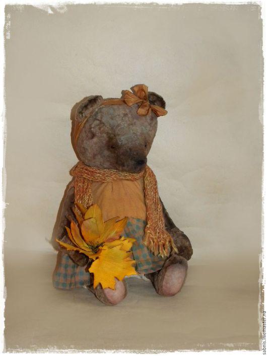 Мишки Тедди ручной работы. Ярмарка Мастеров - ручная работа. Купить Октябрина. Handmade. Комбинированный, мишка девочка