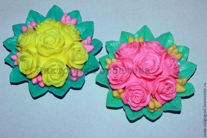 Мыло ручной работы. Ярмарка Мастеров - ручная работа Букет из 7 роз. Handmade.