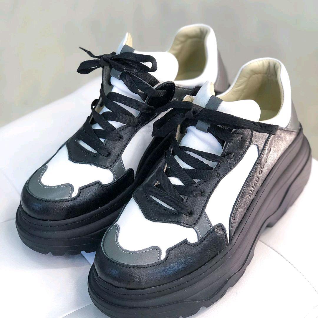 Кроссовки из натуральной кожи ручной работы, Обувь, Белгород, Фото №1