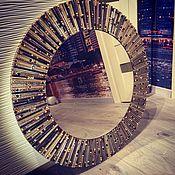 Для дома и интерьера ручной работы. Ярмарка Мастеров - ручная работа Зеркало-солнце в мозаичной раме. Handmade.