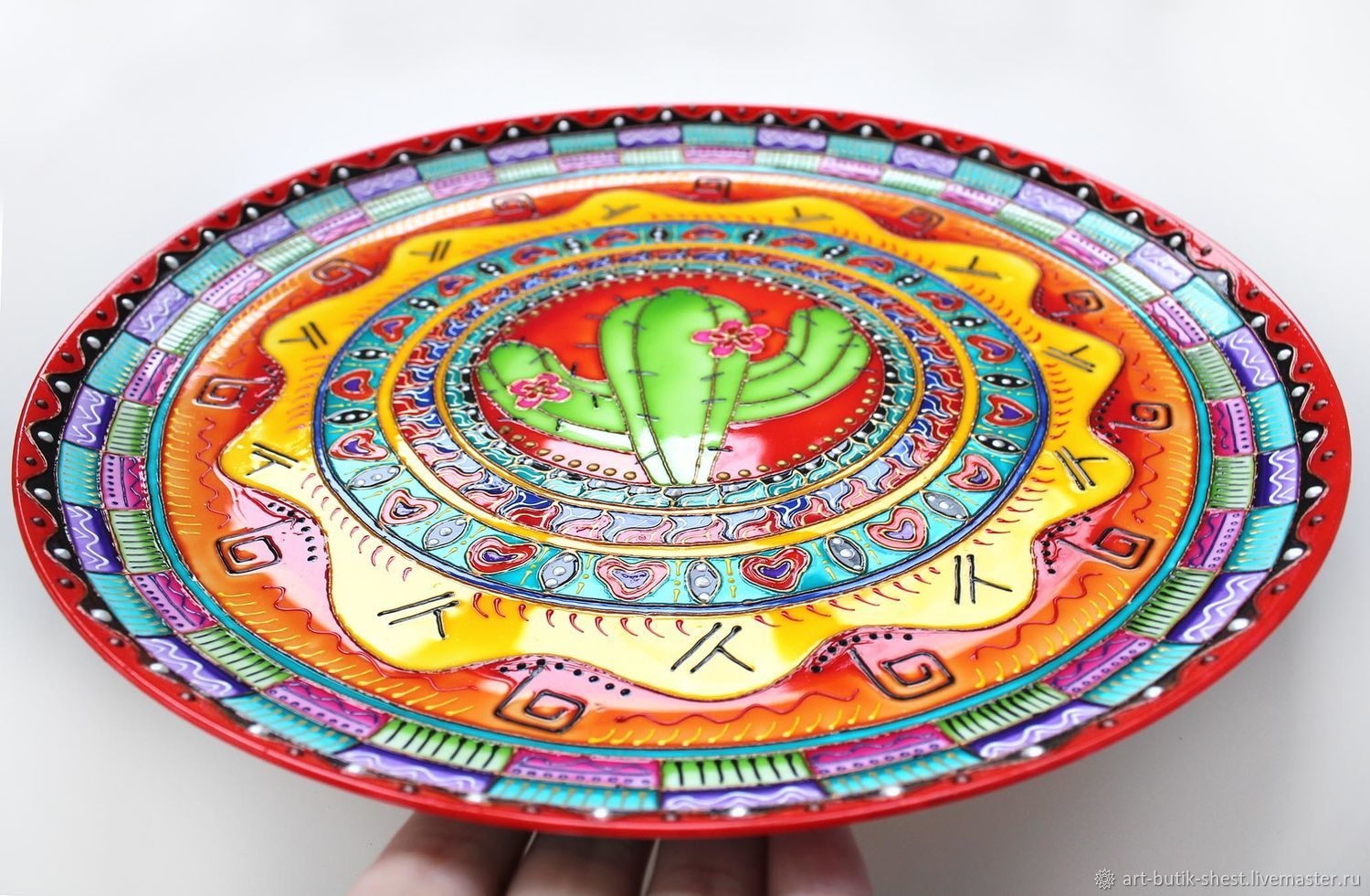 Set Of Decorative Plates \u0027garden Of Mexico\u0027 Hand Painted. & Decorative Plate Set u0026 Click To Expand Sc 1 St Touch Of Class
