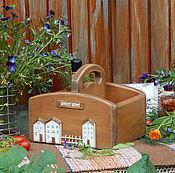 """Для дома и интерьера ручной работы. Ярмарка Мастеров - ручная работа Короб для специй """"Sweet home""""(кедр). Handmade."""