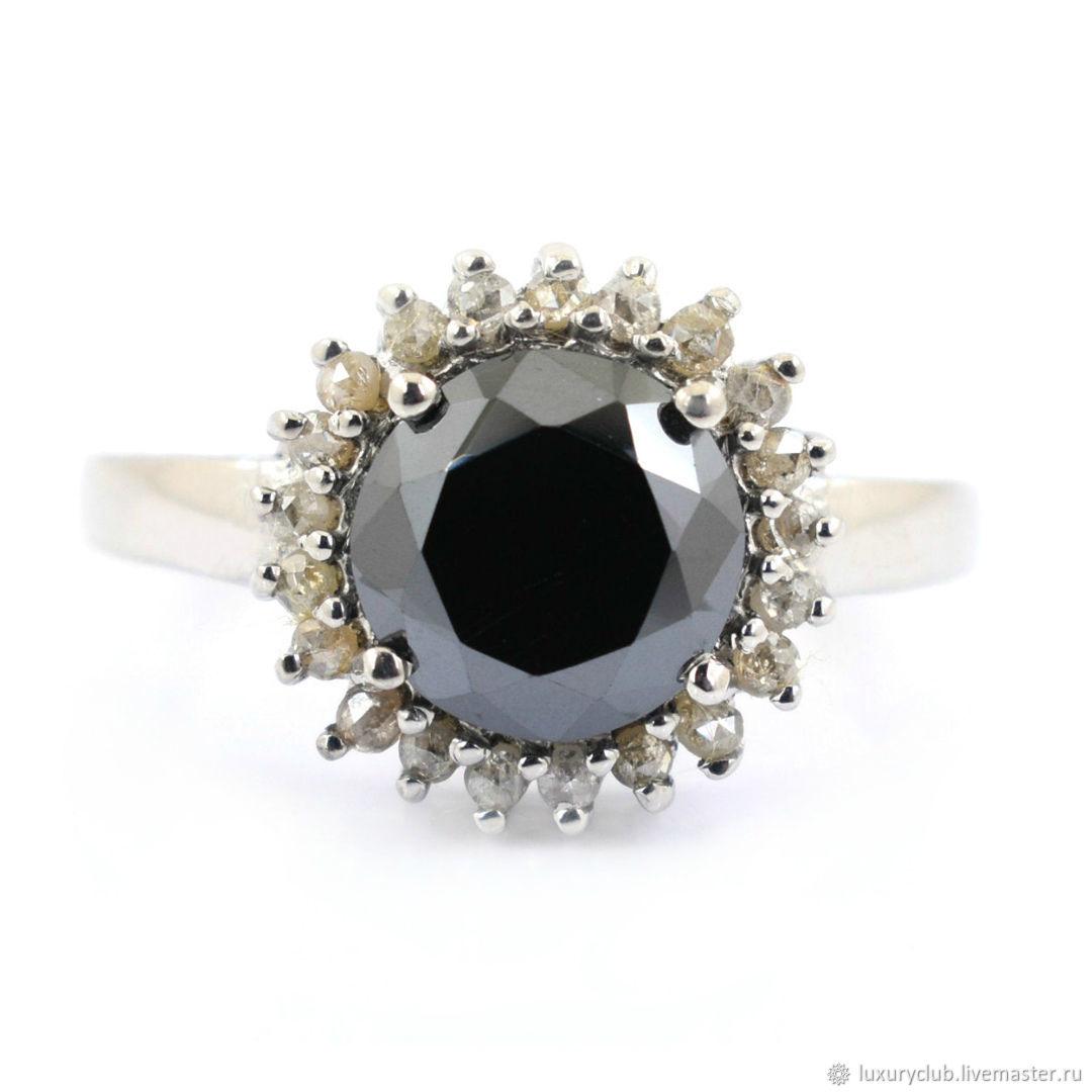 Бриллиант 5ct черный и алмазные вставки СУПЕР ЦЕНА, Кольца, Тольятти,  Фото №1