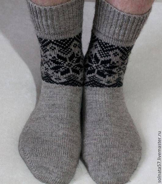 """Носки, Чулки ручной работы. Ярмарка Мастеров - ручная работа. Купить Носки """"Скандинав"""". Handmade. Серый, носки с жаккардом"""