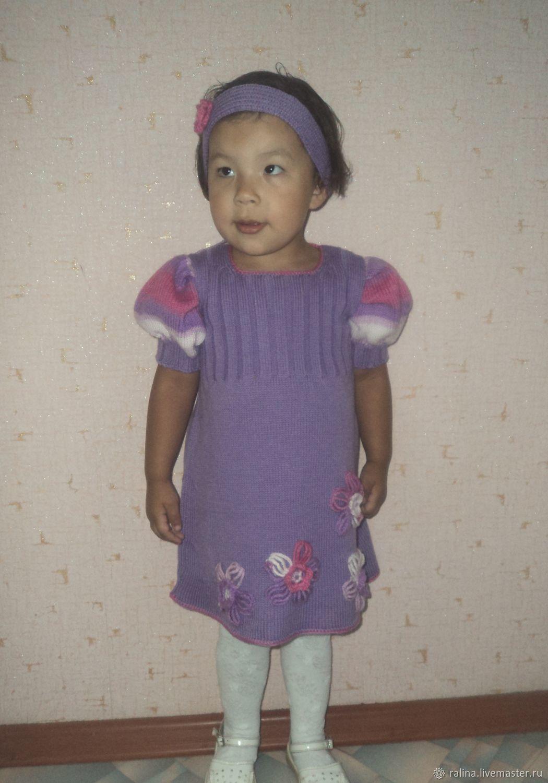 вязаные платья для маленьких принцесс, Одежда, Давлеканово,  Фото №1
