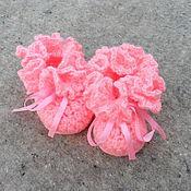"""Работы для детей, ручной работы. Ярмарка Мастеров - ручная работа Пинетки """"ХРИЗАНТЕМКИ"""" (розовые). Handmade."""