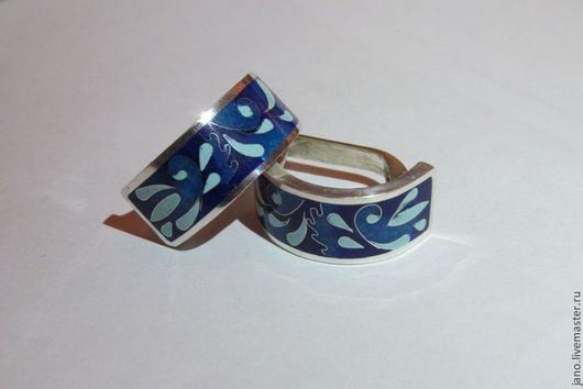 """Серьги ручной работы. Ярмарка Мастеров - ручная работа. Купить серьги """"Синяя коллекция"""". Handmade. Разноцветный, оригинальное украшение"""