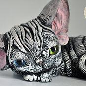 Подарки к праздникам ручной работы. Ярмарка Мастеров - ручная работа Стеша. Кошечка девон рекс. Handmade.