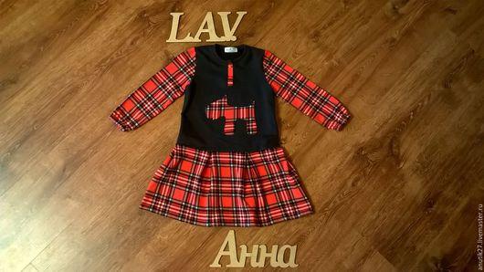 """Одежда для мальчиков, ручной работы. Ярмарка Мастеров - ручная работа. Купить Платье """"Шотландка"""". Handmade. Комбинированный, детская одежда"""