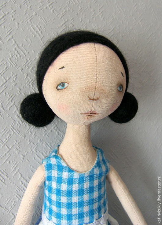Куклы тыквоголовки ручной работы. Ярмарка Мастеров - ручная работа. Купить Маруся. Текстильная интерьерная кукла.. Handmade. Голубой, тыквоголовка