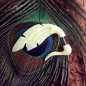 Украшения ручной работы. Ярмарка Мастеров - ручная работа Моно - серьга Перья. Handmade.