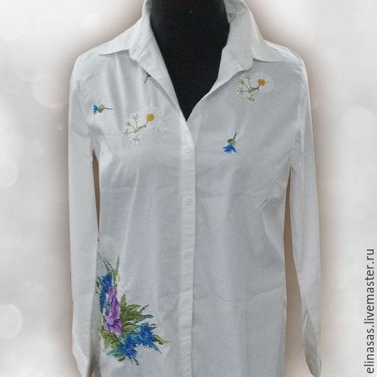 Блузки ручной работы. Ярмарка Мастеров - ручная работа. Купить Блуза с вышивкой. Handmade. Белый