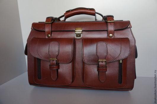 Мужские сумки ручной работы. Ярмарка Мастеров - ручная работа. Купить Литейный саквояж с двумя карманами. Handmade. Рыжий
