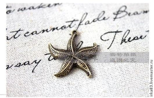 """Для украшений ручной работы. Ярмарка Мастеров - ручная работа. Купить Подвеска морская, пришивная """"Звезда!. Handmade. Тильда, тильды"""