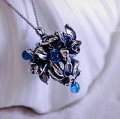 Украшения ручной работы. Ярмарка Мастеров - ручная работа Кулон серебро Орхидеи в росе. Handmade.