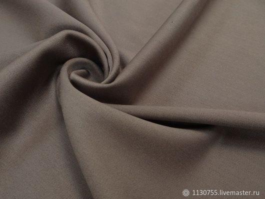Шитье ручной работы. Ярмарка Мастеров - ручная работа. Купить ткань костюмная вискоза  сатин песочный. Handmade. Бежевый