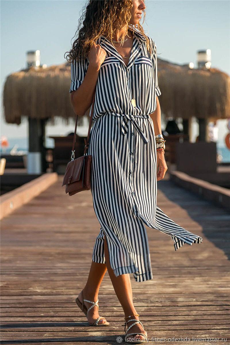 Стильное платье в полоску, Платья, Москва,  Фото №1
