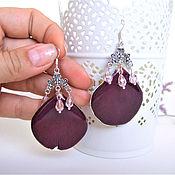 Украшения handmade. Livemaster - original item Earrings with Real Rose Petals Resin Botany Eco. Handmade.