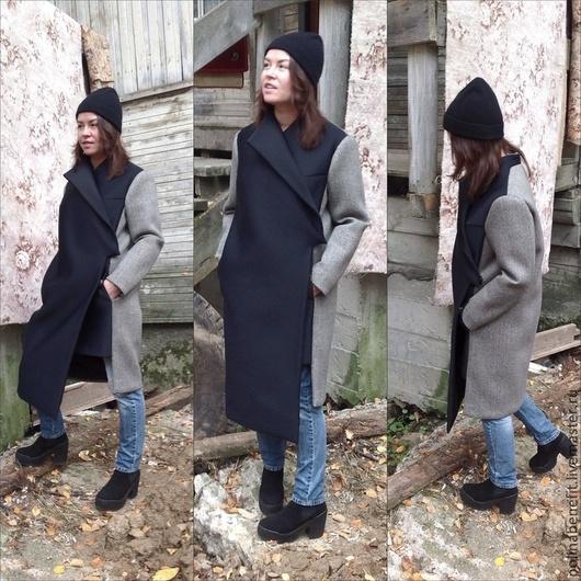 ТОЧНОЕ ПОВТОРЕНИЕ НЕ ВОЗМОЖНО.                  Вид на пальто с разных ракурсов. Рост модели 164 см Размер 44( российский)