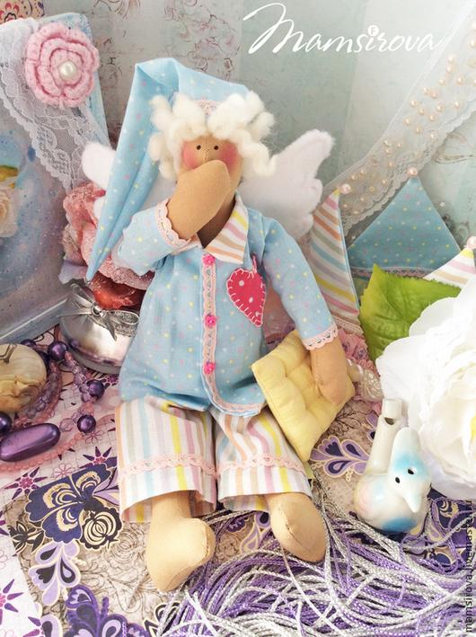 Куклы Тильды ручной работы. Ярмарка Мастеров - ручная работа. Купить Тильда-Ангел сна-Сплюшка. Handmade. Ангел сна