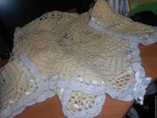 Текстиль, ковры ручной работы. Ярмарка Мастеров - ручная работа. Купить Плед для новорожденного. Handmade. Желтый, теплый подарок