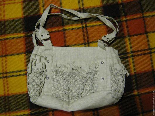 Женские сумки ручной работы. Ярмарка Мастеров - ручная работа. Купить Льняная летняя сумочка, новая. Handmade. Бежевый, лен