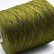 Материалы для творчества handmade. Livemaster - original item Yarn: Natural silk (SE 100%) _olive_CARIAGGI. Handmade.