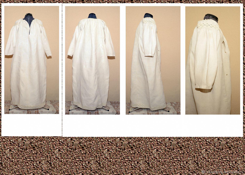Старинная рубаха  домотканной ткани из льна,вышивка белая на белом.Сшита и вышита в ручную. Смотрится очень красиво.5000р.