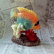 Материалы для творчества ручной работы. Ярмарка Мастеров - ручная работа Силиконовая форма Рыбка в кораллах. Handmade.
