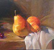 Картины и панно ручной работы. Ярмарка Мастеров - ручная работа Картина маслом Груши. Handmade.