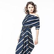 Одежда handmade. Livemaster - original item AG_003 asymmetrical Dress with pockets T. blue. Handmade.