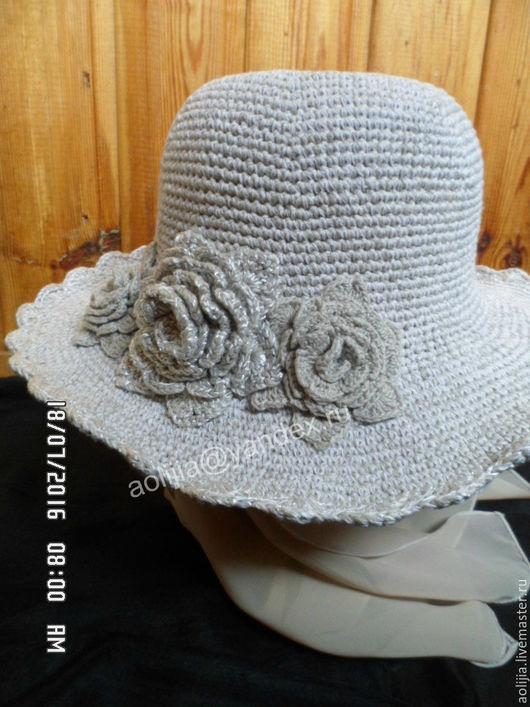 Шляпы ручной работы. Ярмарка Мастеров - ручная работа. Купить Летняя шляпка. Handmade. Бежевый, пляжная мода, объемные цветы