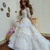 Куклы и игрушки ручной работы. Ярмарка Мастеров - ручная работа Свадебное платье. Handmade.