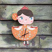 Для дома и интерьера ручной работы. Ярмарка Мастеров - ручная работа Детские маятниковые часы Принцесса Бэлль. Handmade.