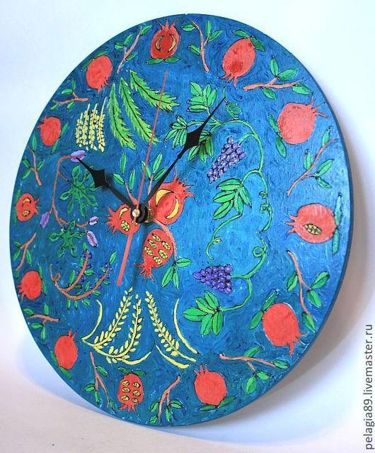 """Часы для дома ручной работы. Ярмарка Мастеров - ручная работа. Купить Часы """"Гранаты"""". Handmade. Часы, часы настенные, гранаты"""